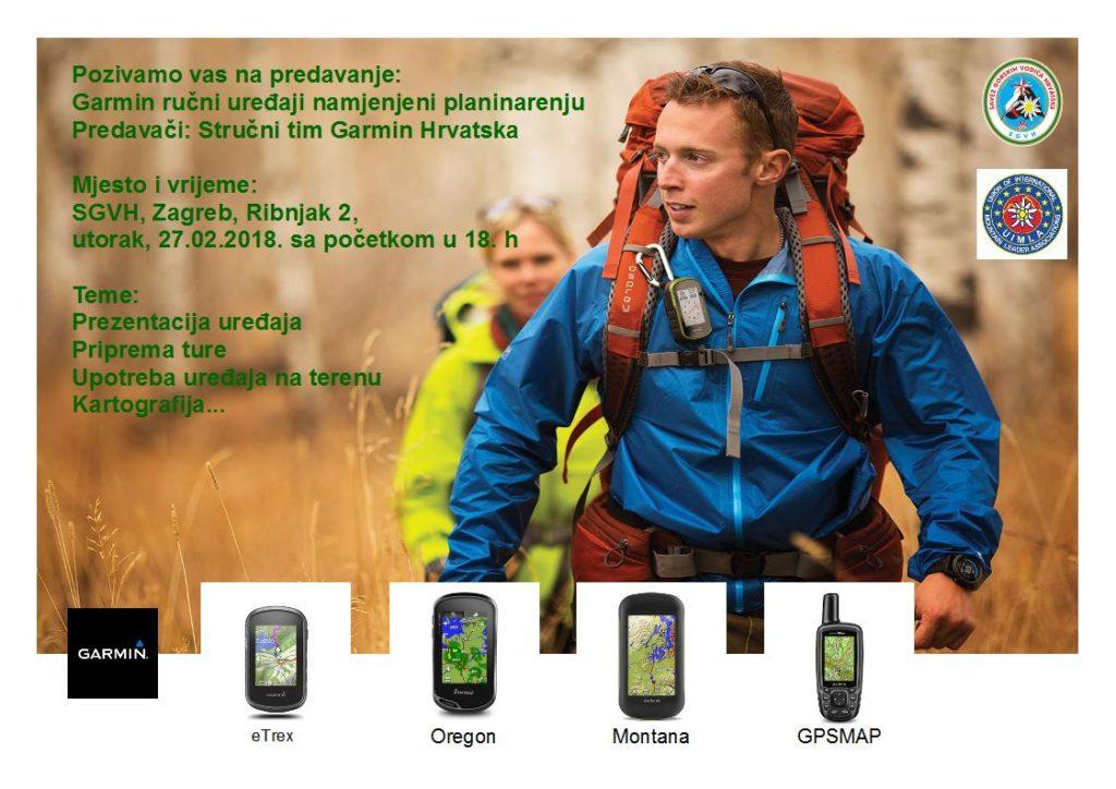 Poziv na stručno predavanje o GARMIN GPS uređajima