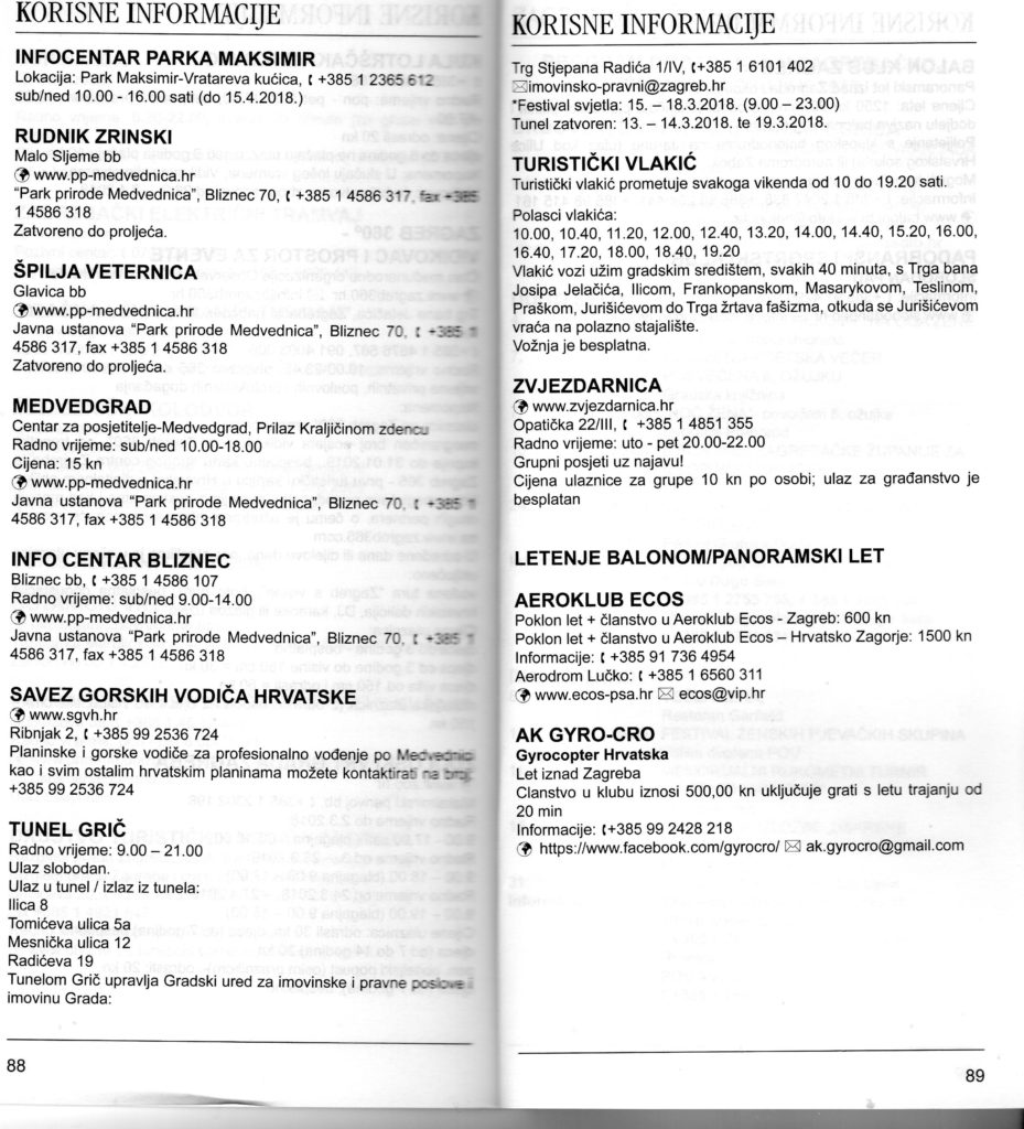 Program priredaba u Zagrebu