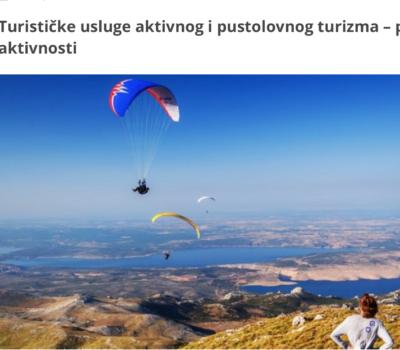 Popis aktivnosti aktivnog i pustolovnog turizma
